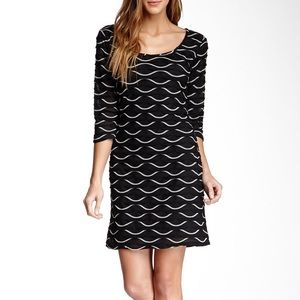New Nordstrom Max Studio Large Scallop Knit Dress